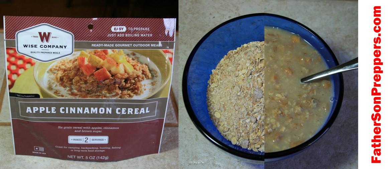 apple cinnamon cereal survival breakfast