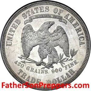 image of silver dollar for bartering after shtf